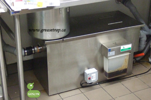 Goslyn grease recovery device data sheets downloads for Kitchen grease trap